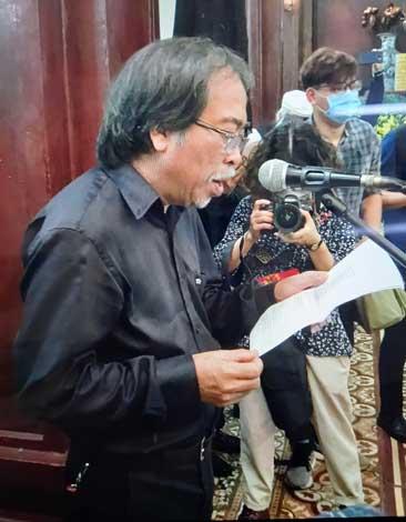 Điếu văn đọc tại tang lễ nhà thơ Hoàng Nhuận Cầm